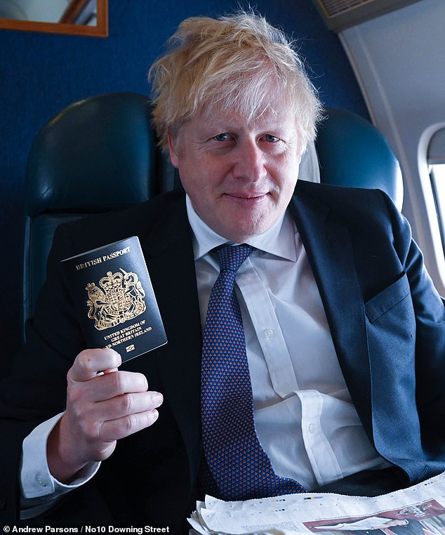 PM Boris Johnson Launches Britain's New Passport Made In Poland